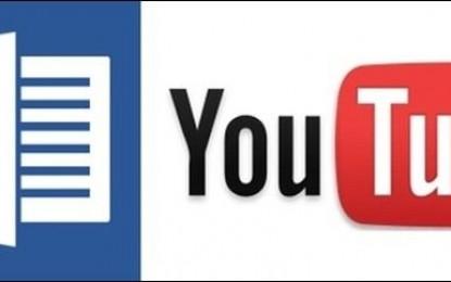 Comment mettre une vidéo YouTube dans Word