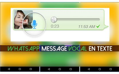 Comment convertir en 3 étapes les messages vocaux WhatsApp en texte